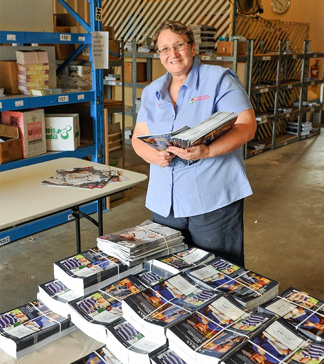 Darling Downs Pamphlet Distributors' owner Sue McHarry